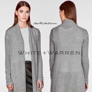 White + Warren featherlight cashmere cardigan